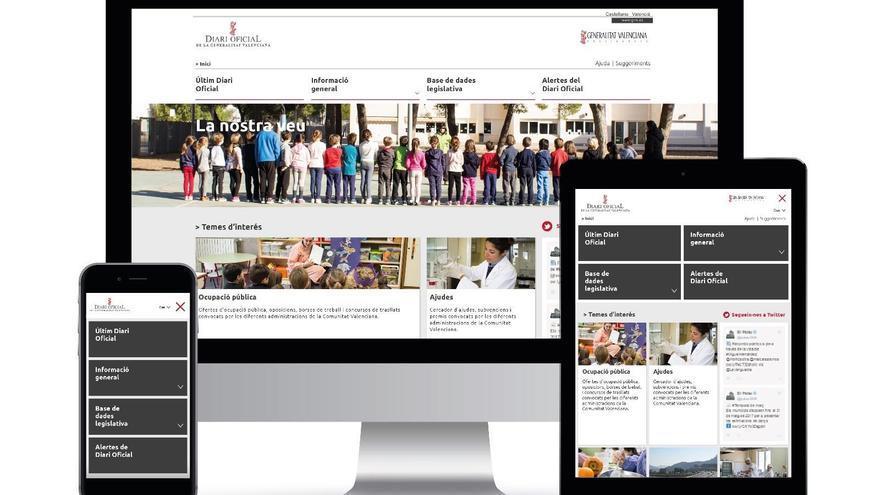 Nuevo diseño del Diari Oficial de la Generalitat Valenciana