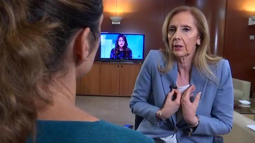 Carmen Sastre, en una entrevista