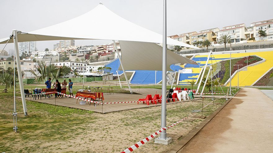 Parque del Estadio Insular. (Foto: Alejandro Ramos).