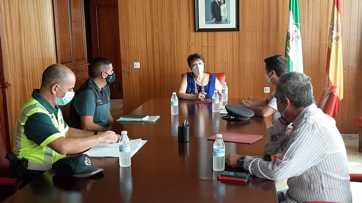 Reunión mantenida en la Subdelegación de Gobierno con motivo de La Vuelta Ciclista a España.