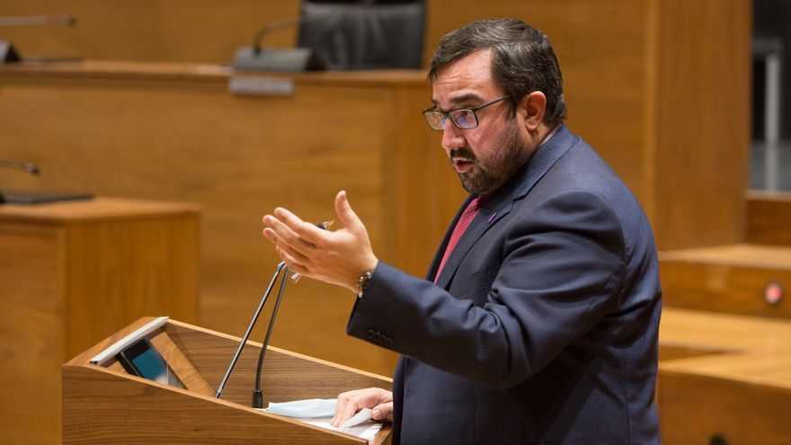 Archivo - El vicepresidente primero del Gobierno foral, Javier Remírez.