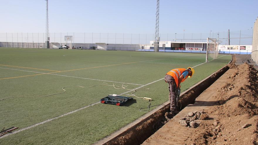 Imagen de uno de los campos de fútbol en que interviene el Ayuntamiento