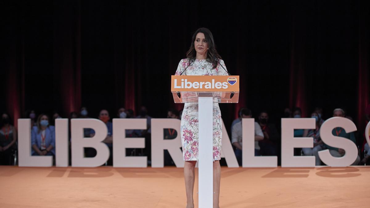 Ines Arrimadas durante la convención política de Ciudadanos celebrada en Madrid