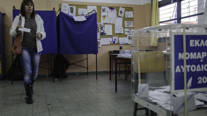 Jornada electoral en el barrio de Exarjia (Grecia). \ Clara Palma