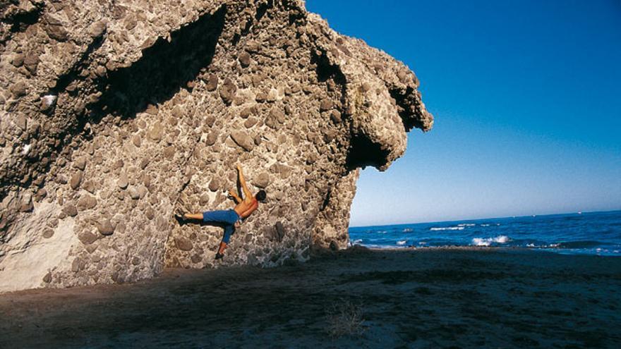 El bolo redondo es el agarre que predomina en Cabo de Gata