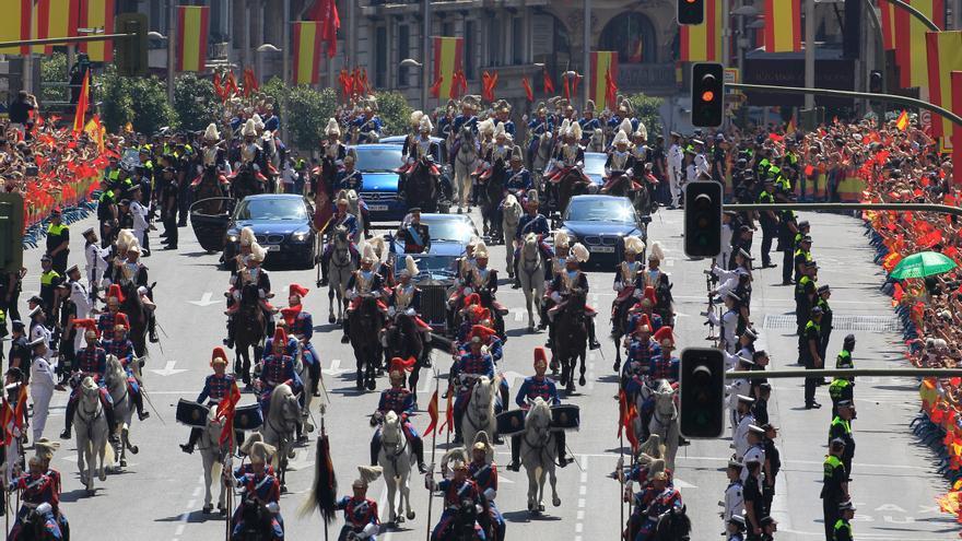 Los reyes, cuando se dirigían al Palacio Real a la recepción / Gtres