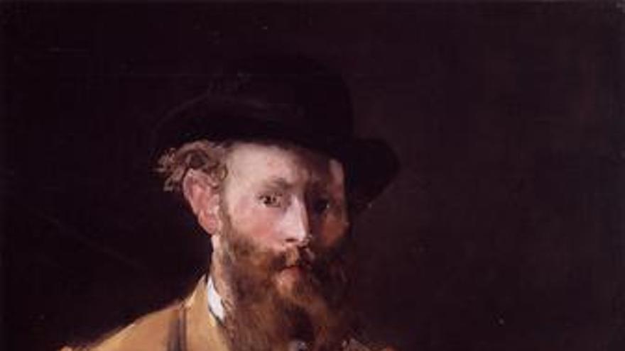 Autorretrato con paleta de Manet