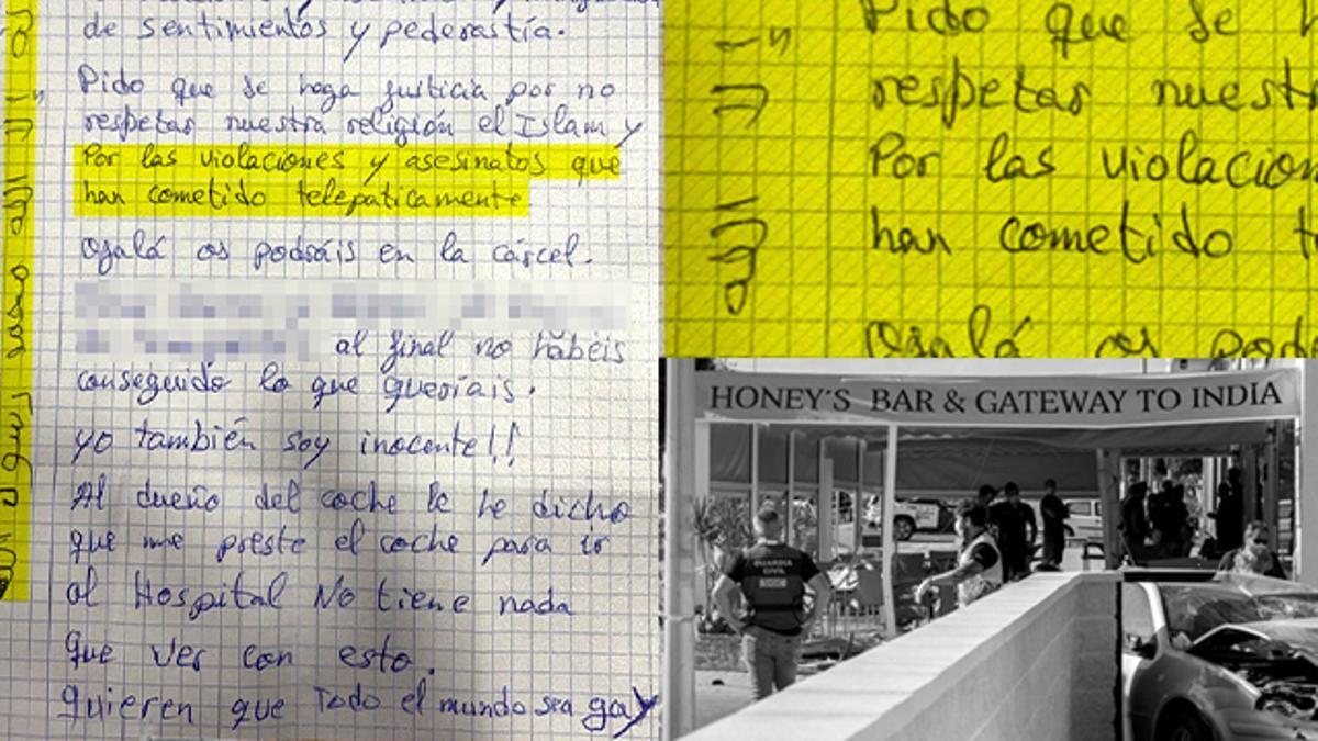 Carta del kamikaze de Murcia