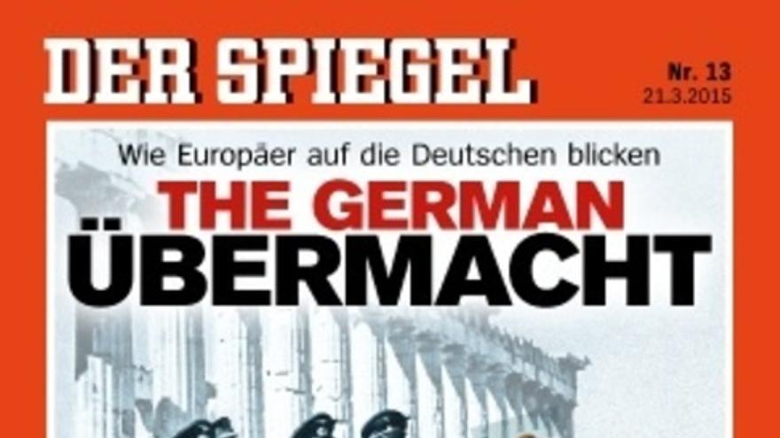 Portada de Der Spiegel con el fotomontaje de Merkel entre nazis.