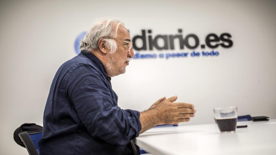 El director general de Tráfico, Pere Navarro, en un momento de la entrevista