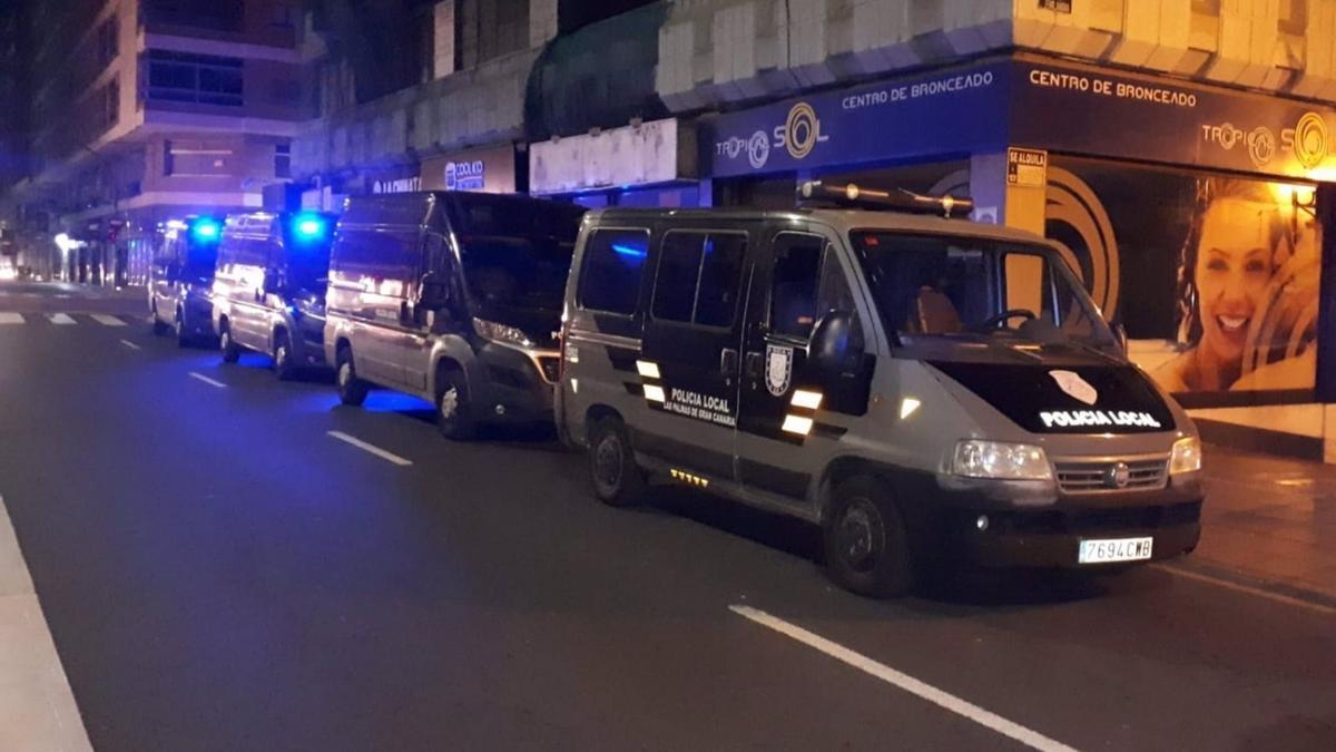 Policía Local en la capital grancanaria