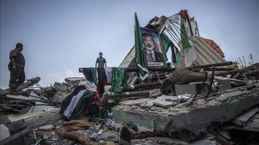 22 días de bombardeos de Gaza.