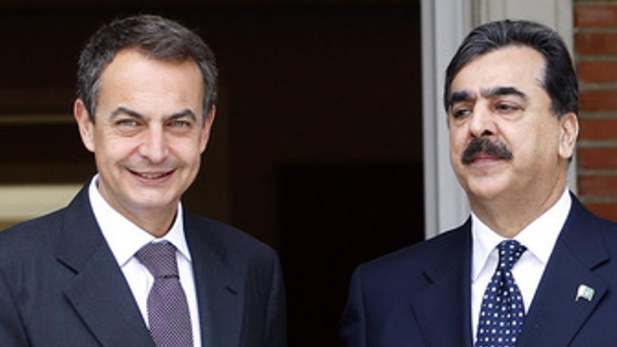 José Luis Rodríguez Zapatero y Yusuf Raza Gilani