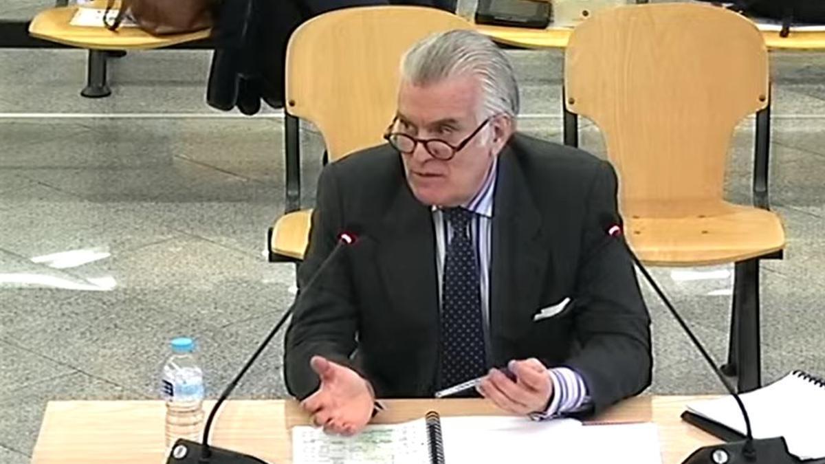 Luis Bárcenas en su declaración este lunes, 8 de marzo, ante la Audiencia Nacional