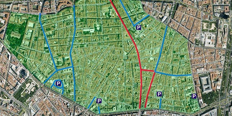 Propuesta de cierre al tráfico de Malasaña y Chueca | ECOMOVILIDAD