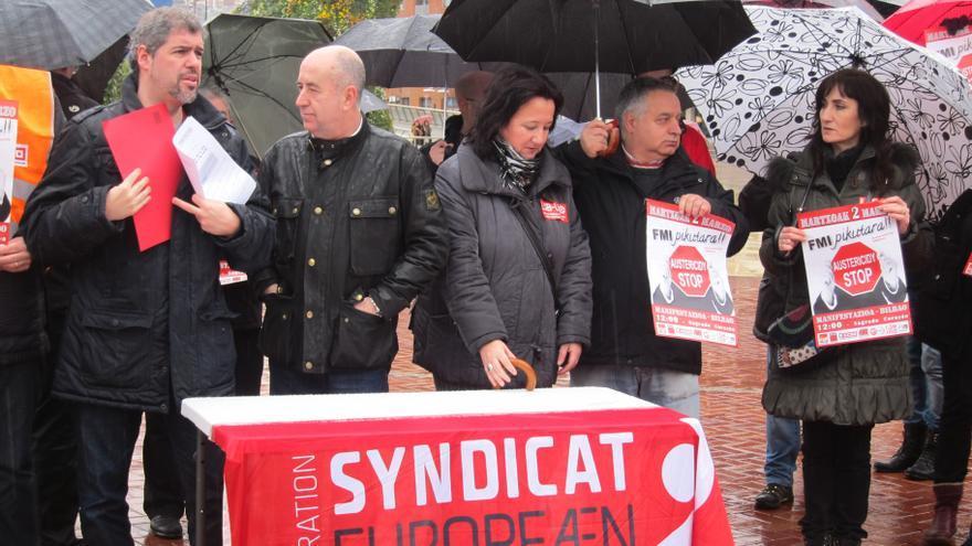 """CC.OO, UGT y USO llaman a manifestarse en Bilbao contra el foro económico y denunciar las """"políticas de austeridad"""""""