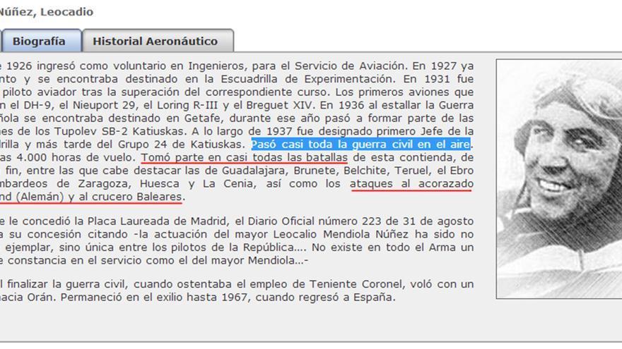 Leocadio Mendiola, aviador leal al Gobierno español.