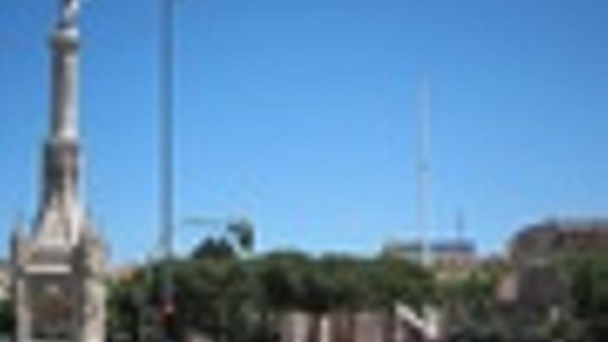 La Bandera De España De La Plaza De Colón Se Cae Accidentalmente Del Mástil