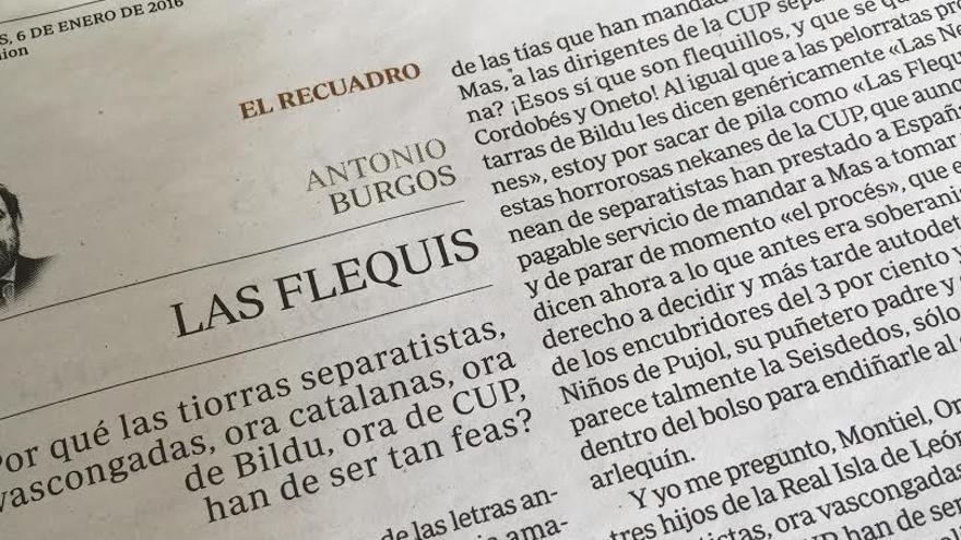 Artículo de Antonio Burgos en ABC