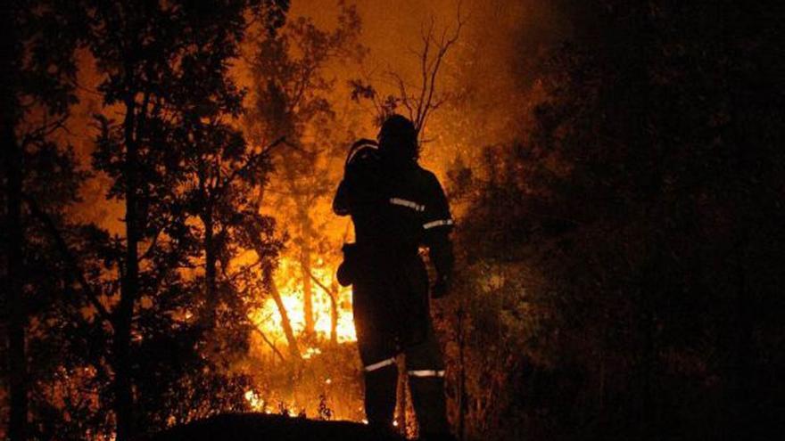 Bombero en incendio de Riba de Saelices (Guadalajara) en 2005 / Foto: Europa Press