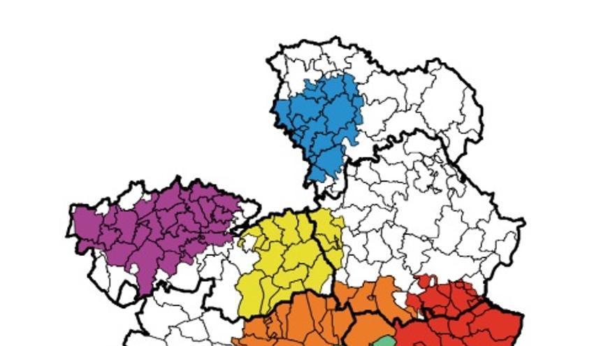 Mapa de zonas vulnerables a la contaminación por nitratos de origen agrario