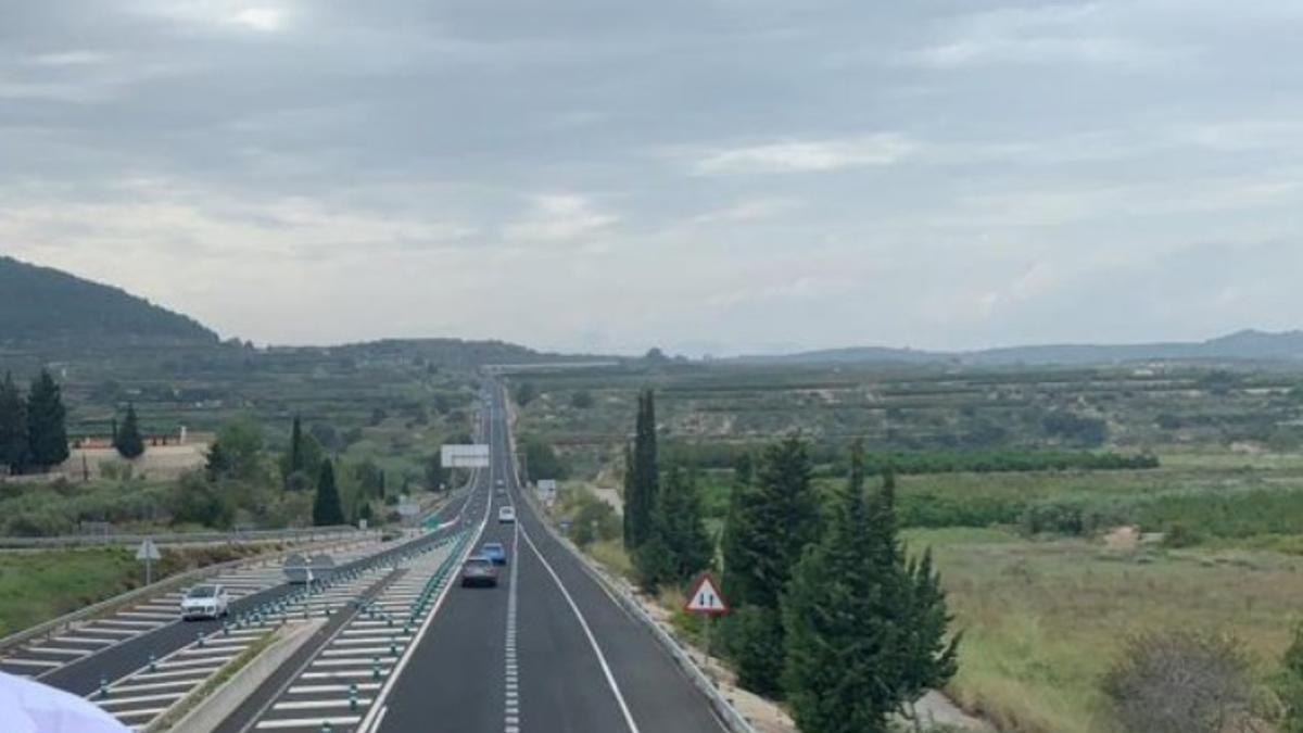 La carretera CV-60.