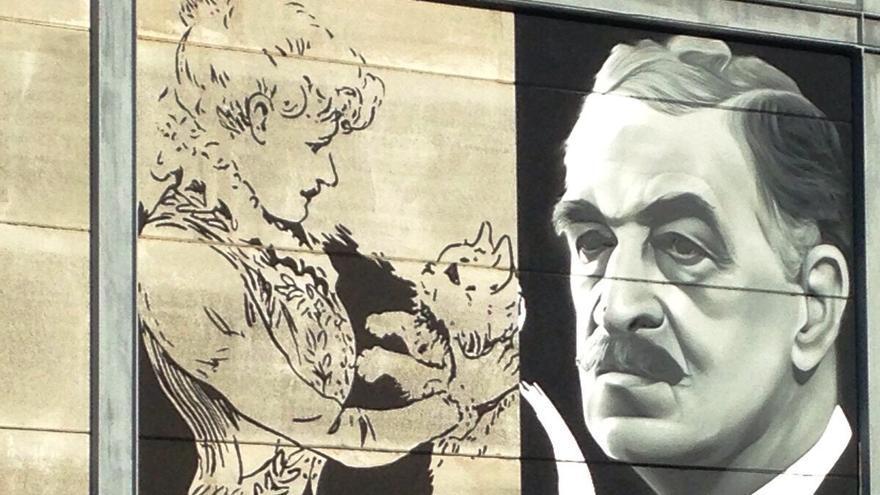 Detalle del mural de Gata