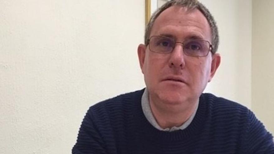 Fernando Sabaté, portavoz de Podemos en el Cabildo de Tenerife