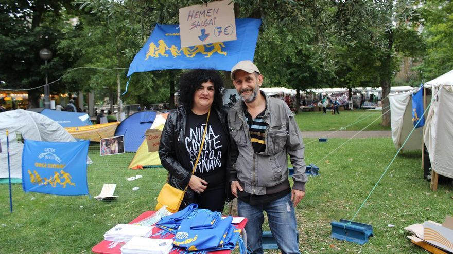 Itziar de Blas en un acto de apoyo a las personas refugiadas | Imagen cedida a eldiario.es