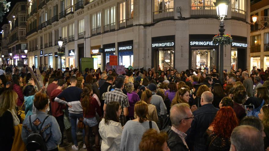 Concentración en calle Larios (Málaga) | N.C.