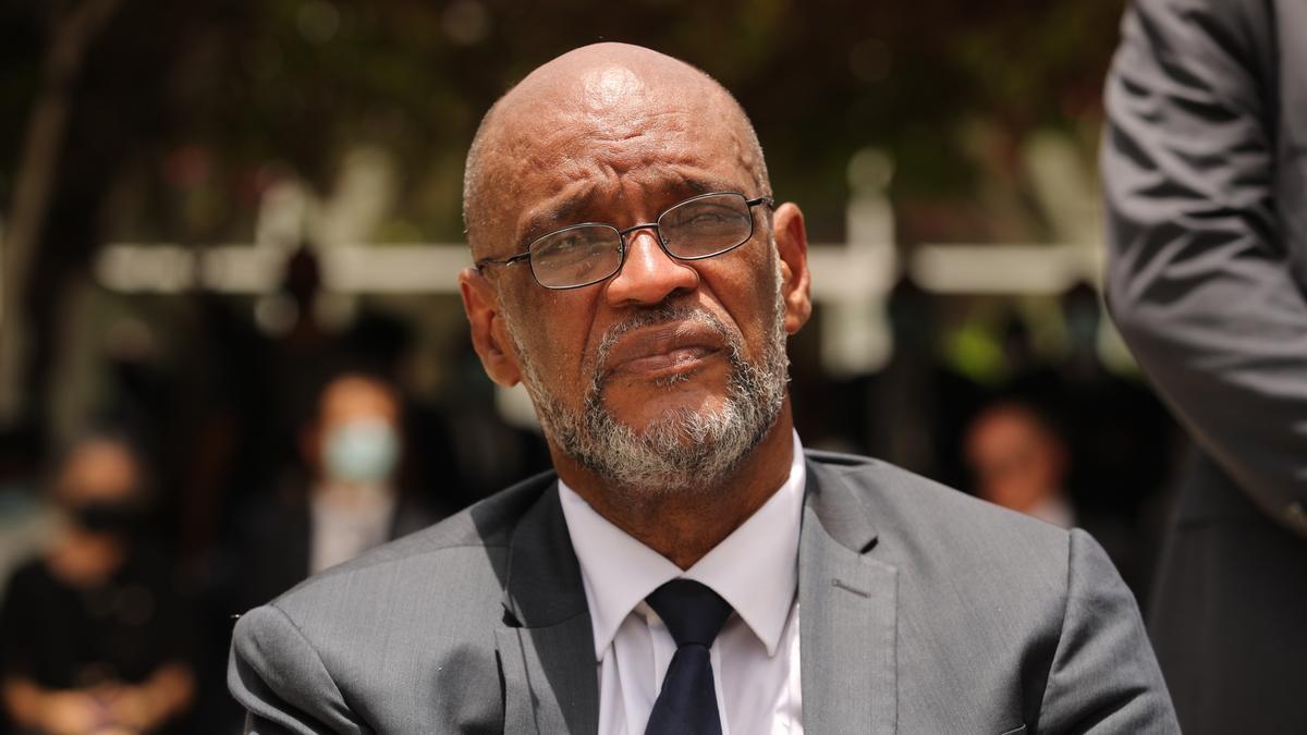 Fotografía de archivo del primer ministro de Haití, Ariel Henry. EFE/ Orlando Barría