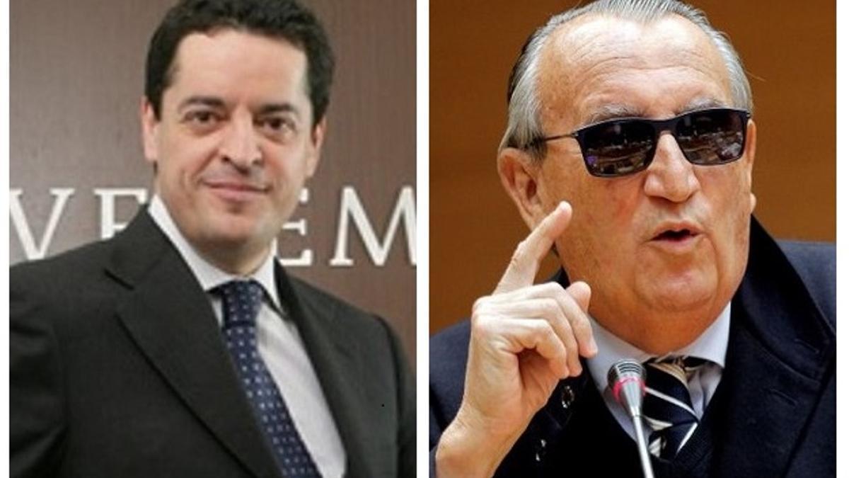 El empresario Enrique Bañuelos (izquierda) y el expresidente de la Diputación de Castellón Carlos Fabra.
