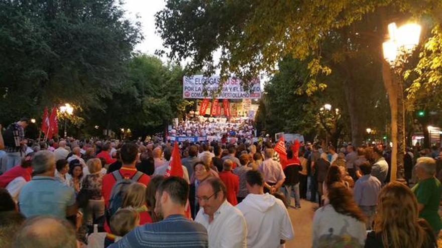 Manifestación contra el cierre de Elcogas. Foto por @SCabreado / Twitter