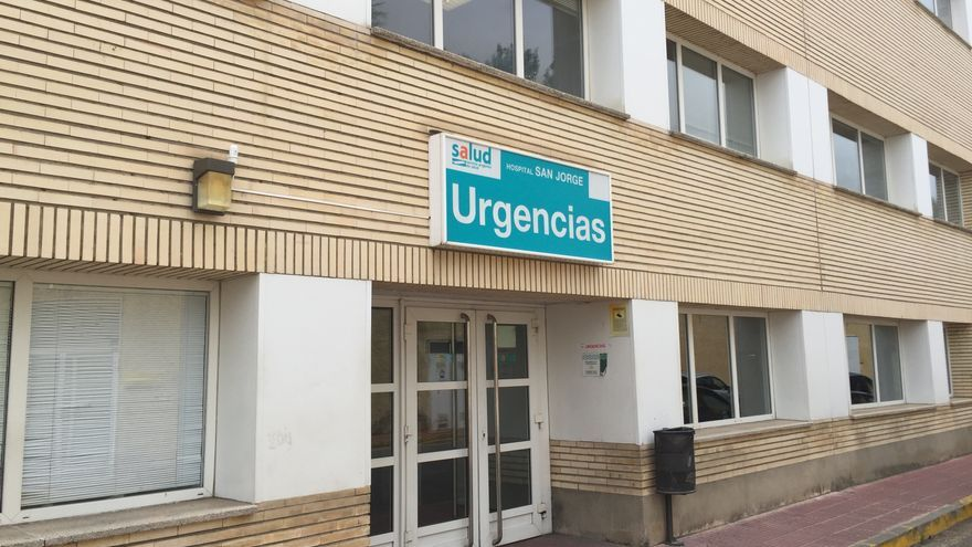 Acceso a las Urgencias del Hospital San Jorge de Huesca.