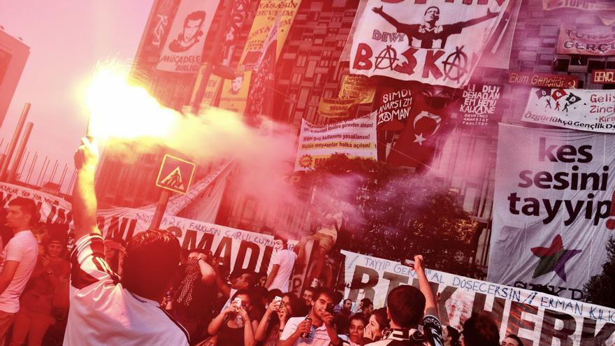 Plaza Taksim de Estambul, 8 de junio de 2013 (Juan Luis Sánchez)
