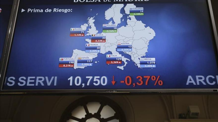 La prima de riesgo abre al alza, en 128 puntos, y el bono sube al 1,856 por ciento