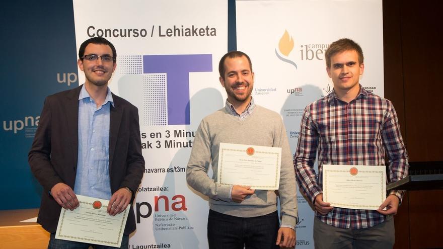 Javier Osés Martínez de Zúñiga gana la final del concurso Tesis en 3 Minutos de la UPNA