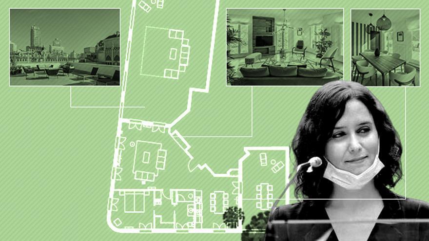 Plano del apartamento en el que se aloja Isabel Díaz Ayuso