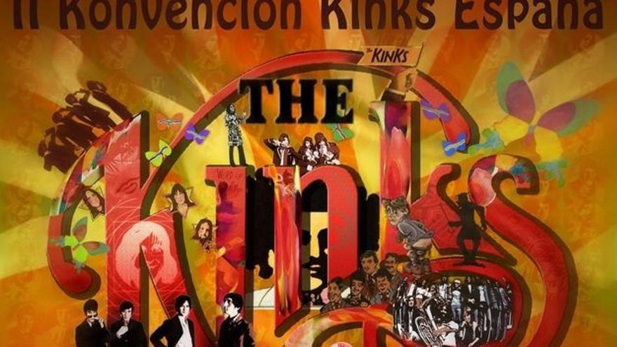 Cartel de la segunda Konvención de Fans de los Kinks en España