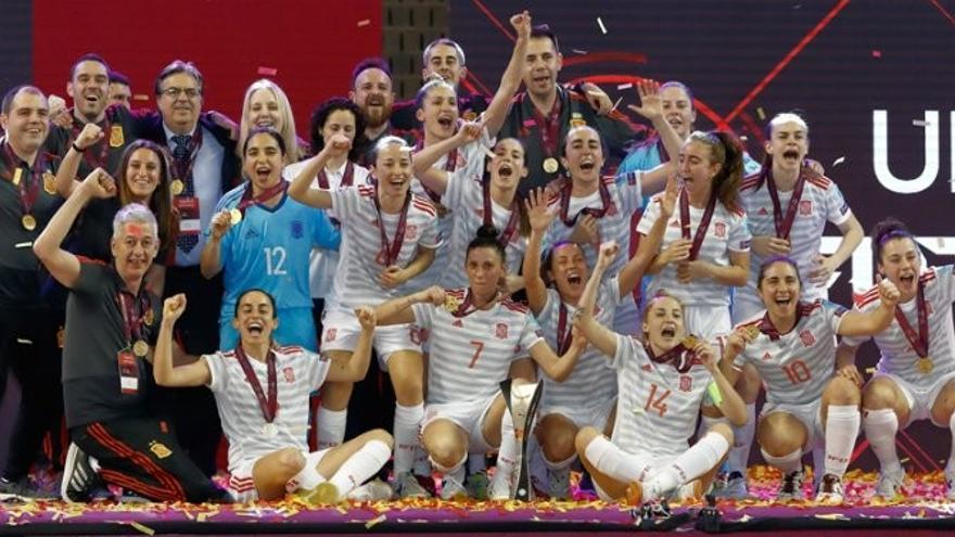 Fútbol Sala: Dos andaluzas, Campeonas de Europa con España