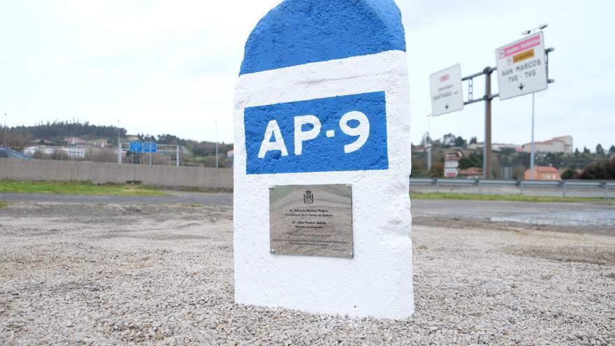 Hito kilométrico de la AP-9