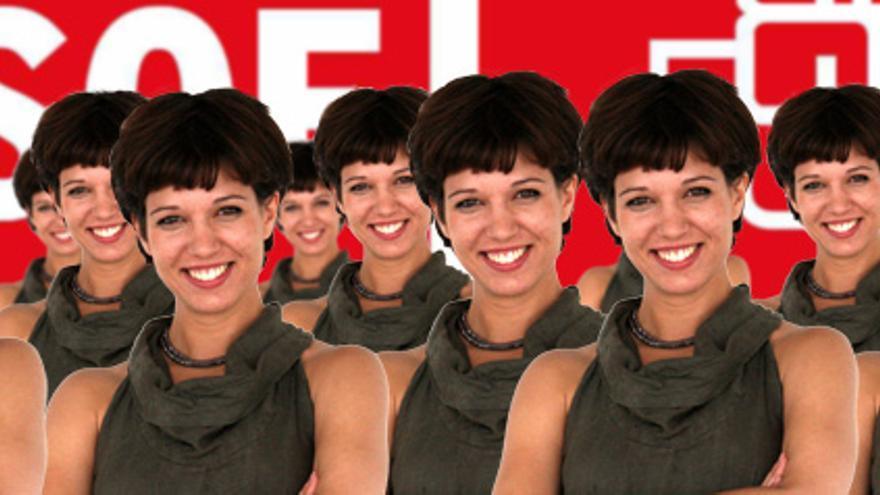 Los clones de Beatriz Talegón incautados por la brigada especial.