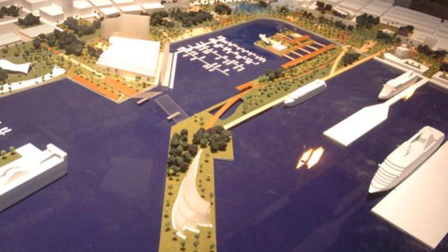 Maqueta de La Gran Marina.