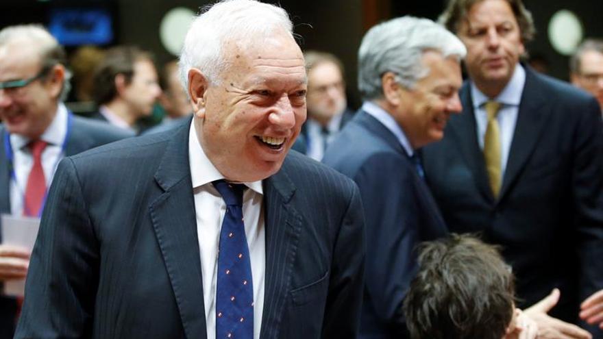 Margallo se reunió con Zapatero y Rivera y le asegura protección en Venezuela