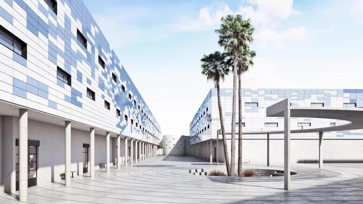 Recreación virtual del futuro CIE de Algeciras