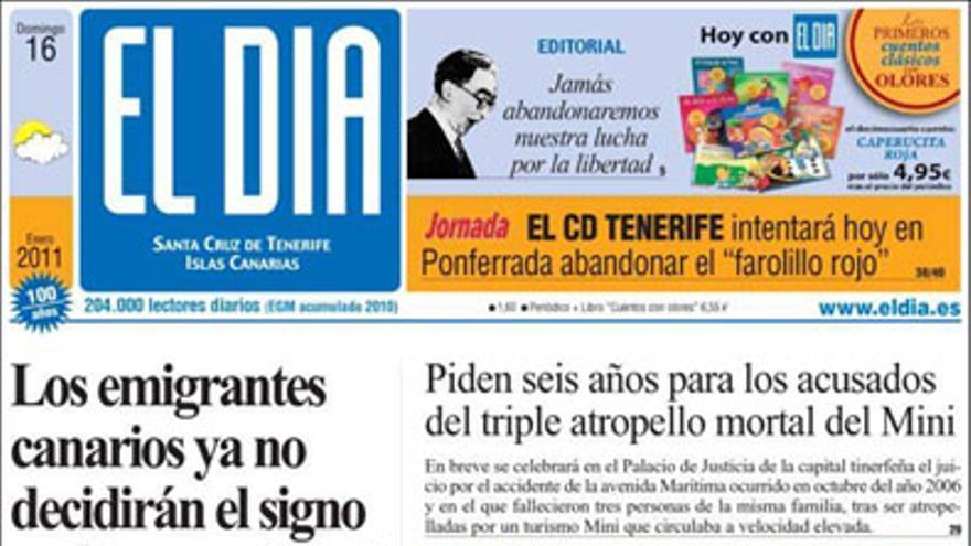 De las portadas del día (16/01/2011) #4