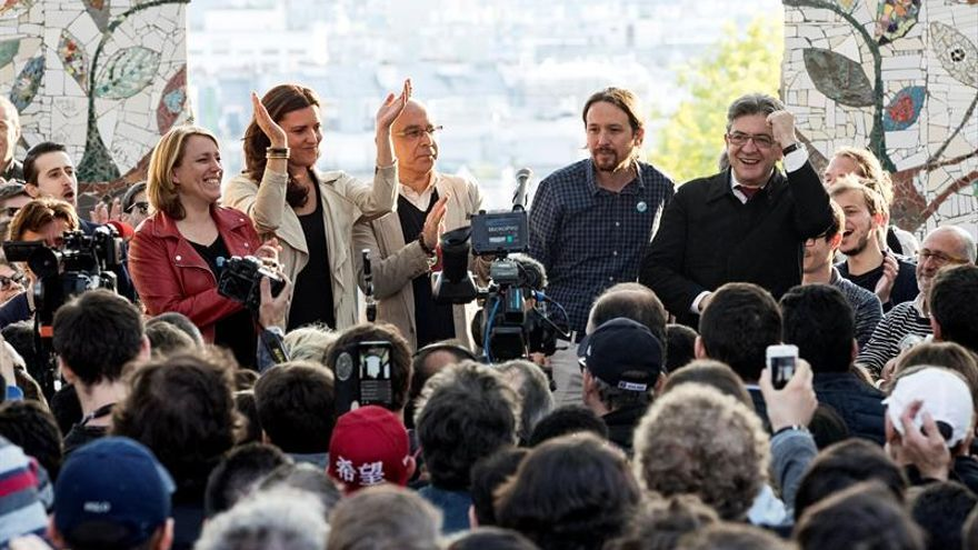 """Mélenchon despide su campaña al grito de """"sí, se puede"""""""