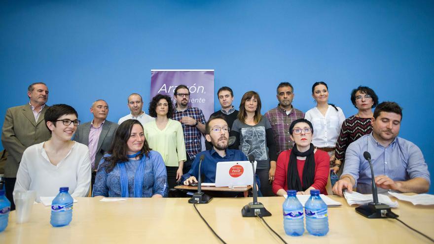 Presentación de los candidatos de Podemos Aragón