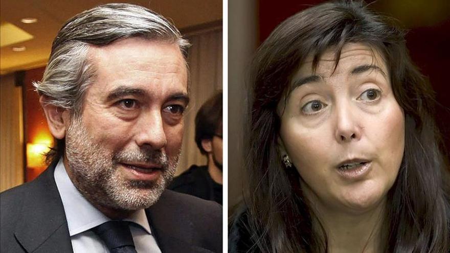 El magistrado Enrique López y la presidenta de la sección de la Sala de lo Penal a la que pertenece, Concepción Espejel