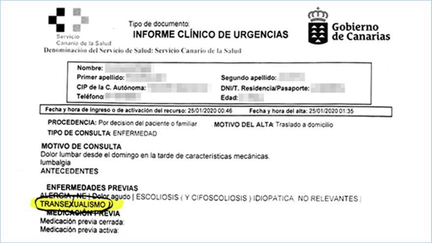 Parte médico de Damián Rodríguez.